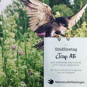 cTrap är stödföretag till Naturskyddsföreningen